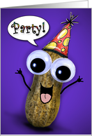 Party Peanut Invitation card