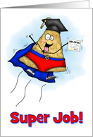 Flying Graduation Nacho Man Super Graduation Card