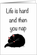 Encouragement: Life is Hard and Then You Nap. card