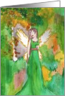 Angel and autumn forrest Card