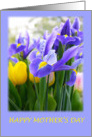 Happy Mother's Day Mom With Purple Irises Card