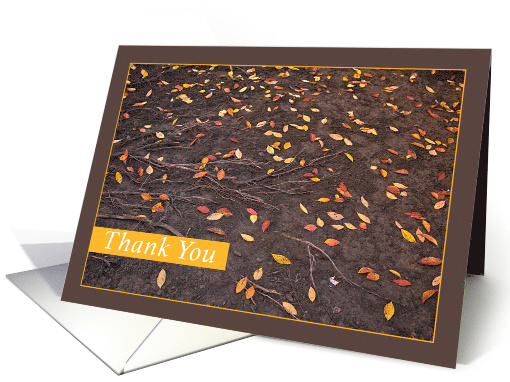 Thank You Thoughtfulness Autumn Leaves card (1544134)