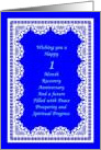 1 Month, Recovery Anniversary. Peace, Prosperity, Spiritual Progress card