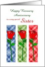 Sister, Happy Recovery Anniversary, Custom Text card