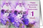 1 Month, Happy Anonymous Recovery Anniversary card