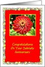 Congratulations, Sobriety Anniversary, Red Flower, card