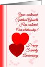 Happy Sobriety Anniversary Red Hearts card