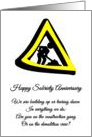 Happy Sobriety Anniversary under construction card