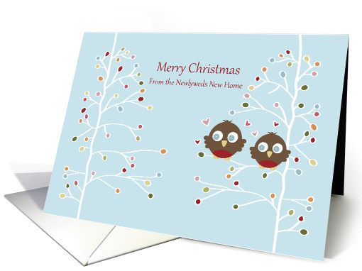 Merry Christmas - from Our New Home - Robin Couple card (1194878)