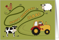 Happy Birthday - Isaac - Fun on the Farm card