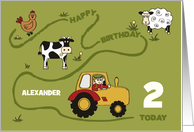 Happy Birthday - Custom Front - Fun on the Farm card