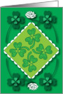St. Patrick's Shamrocks Card