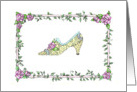 Victorian Shoe with Roses card