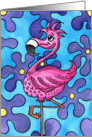 Flamingo Fun card
