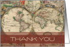 Old World Thank You card