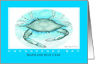 Chesapeake Bay Maryland Blue Crab Card