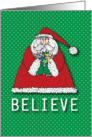 Santa Claus Believe Greeting card
