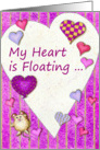 My Heart is Floating ... Valentine's Day card