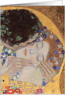 The Kiss, 1907-08 (oil on canvas) (detail) by Gustav Klimt, Fine Art Valentines card
