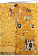 Fulfilment (Stoclet Frieze) c.1905-09 (tempera, w/c) by Gustav Klimt, Fine Art Valentines card