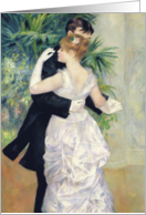 Dance in the City, 1883 (oil on canvas) by Pierre Auguste Renoir, Fine Art Blank Note Card