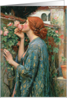 The Soul of the Rose, 1908 (oil on canvas) by John William Waterhouse, Fine Art Blank Note Card