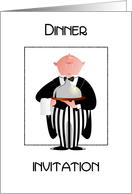 stylish butler- dinner invitation card