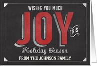 Wishing you Much Joy this Holiday Season Customizable card