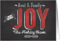 Wishing you Much Joy this Holiday Season Aunt & Family card
