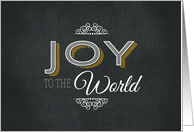 Joy to the World Chalkboard card