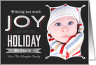Wishing you Much Joy & Happiness this Holiday Season Chalkboard card