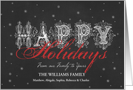Chalkboard Happy Holidays from Our Family to Yours card