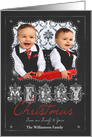 Chalkboard Merry Christmas from Our Family to Yours Photo card