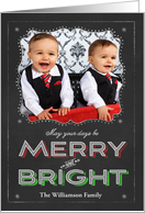 Chalkboard May Your Days be Merry and Bright Photo card