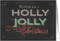 Chalkboard Wishing you a Holly Jolly Christmas card
