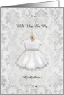 Christening Be My Godfather card