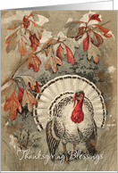 Vintage Thanksgiving Blessings card