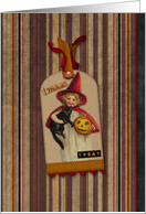 Witches Happy Halloween card