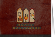 Happy Halloween Boo Tag card