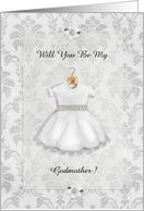 Christening Be My Godmother card