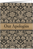 Business Our Apologies card