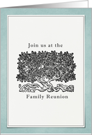 Family Reunion Invitation, Tree With Roots card
