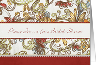 Floral Bridal Shower Invitation card