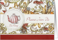 Please Join use Tea party Invitation card