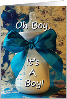 Announcement: Pregnant With Baby Boy! card