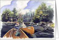 The Thoroughfare at Pearce Pond Camps Maine card