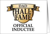Father's Day Dad Hall of Fame Official Inductee Award card