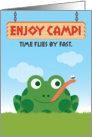Summer Camp, Thinking of You with Frog and Fly card