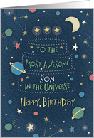 Happy Birthday Most Awesome Son in the Universe card