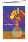 Flowers in Vase Happy Mother's Day card